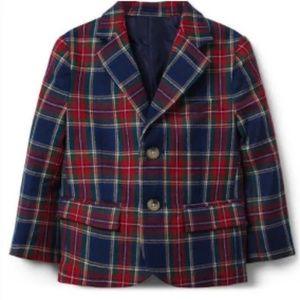 Janie Jack Boys Tartan Blazer Coat Bin:A Upstairs